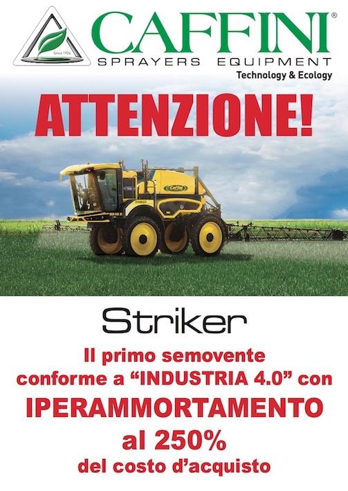 """Caffini: ad Agritechnica il nuovo Striker, conforme a """"Industria 4.0"""""""