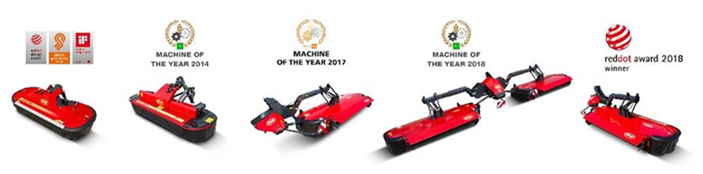 Vicon: Red Dot Design Award per le falciacondizionatrici Vicon Extra 700