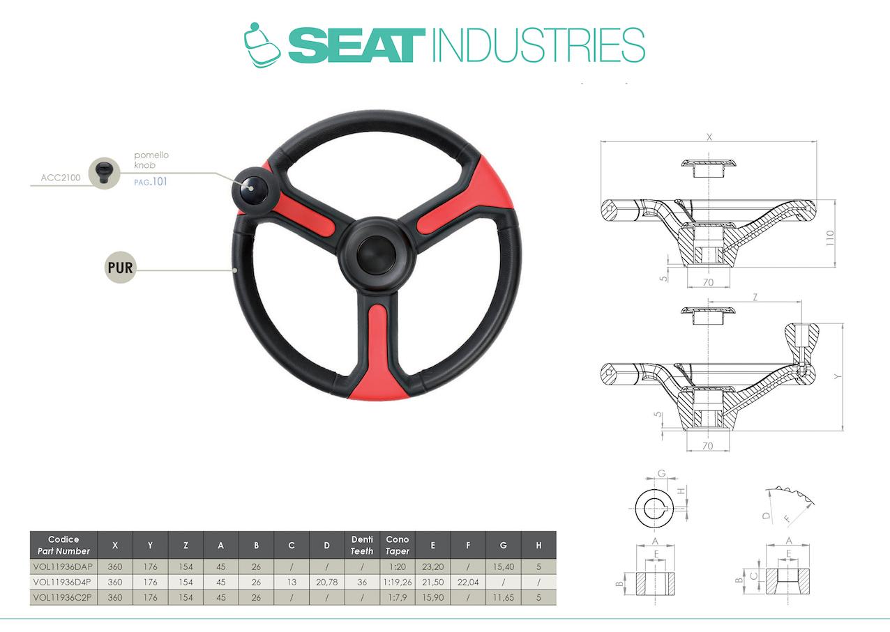 Seat Industries (gruppo Ama): sedili e volanti di ultima generazione