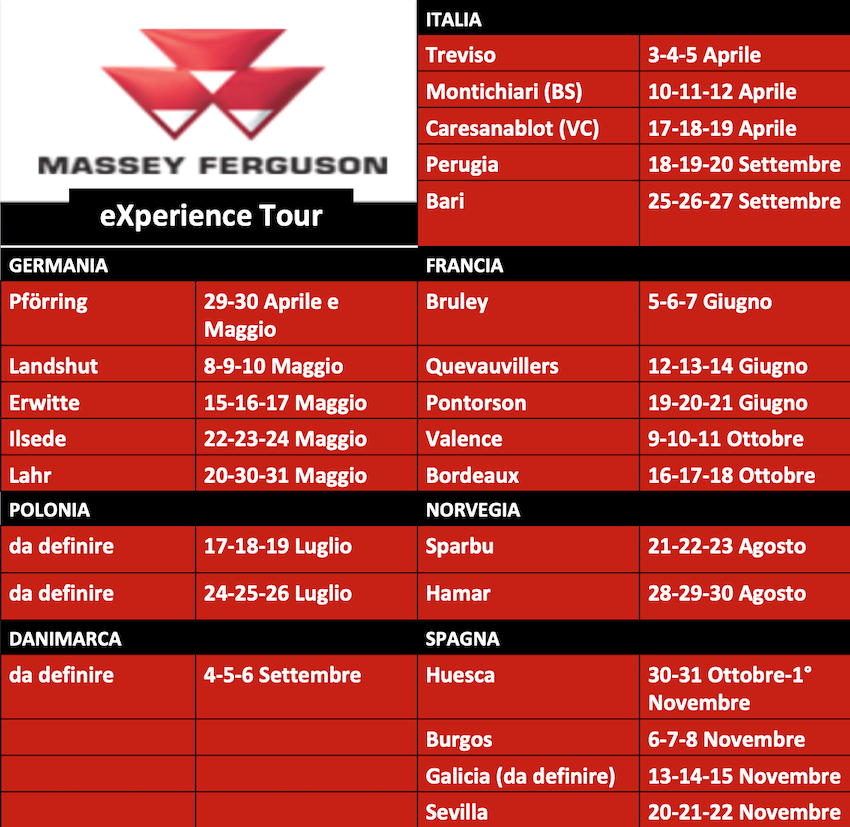 Massey Ferguson: al via, in Italia, l'MF eXperience Tour