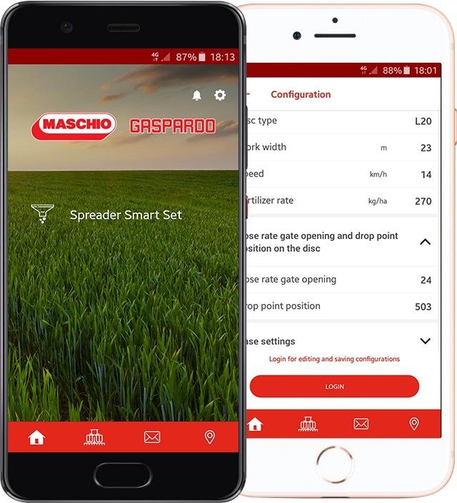 Novità nell'App My Maschio Gaspardo con la funzione Spreader Smart Set