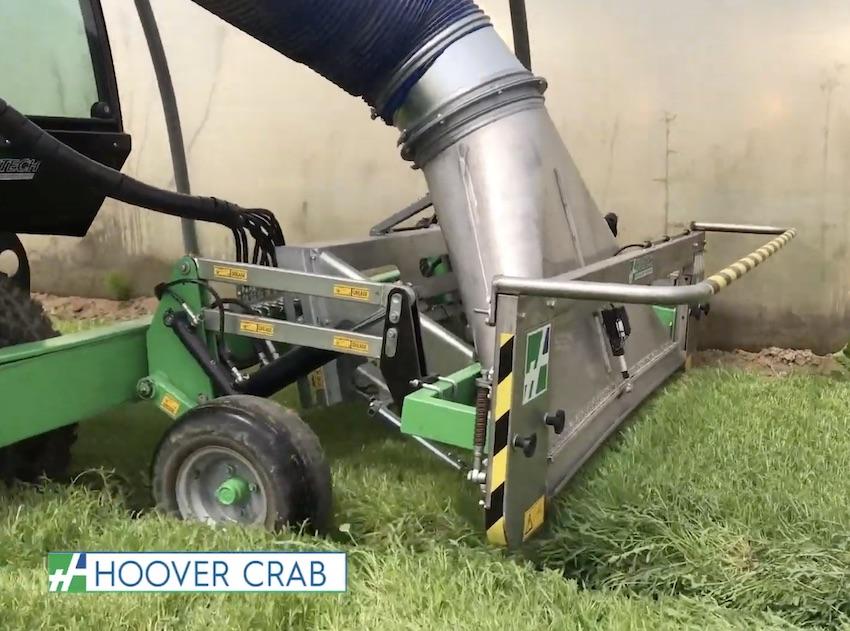 Hortech: Hoover Crab, potente aspiratore semovente per la quarta gamma
