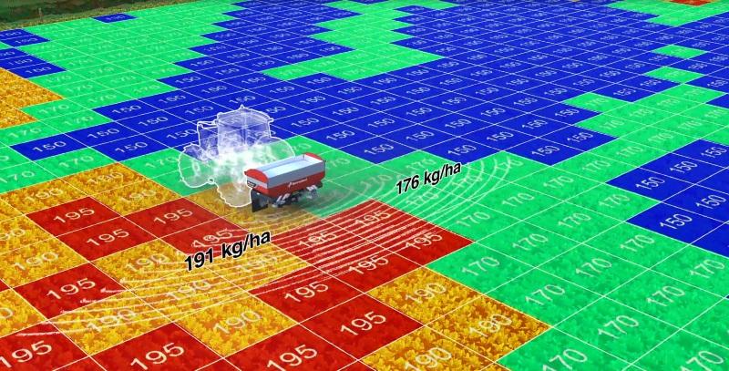 Kverneland: TLX Geospread con Multirate, per gestire a dose variabile fino a 8 ratei
