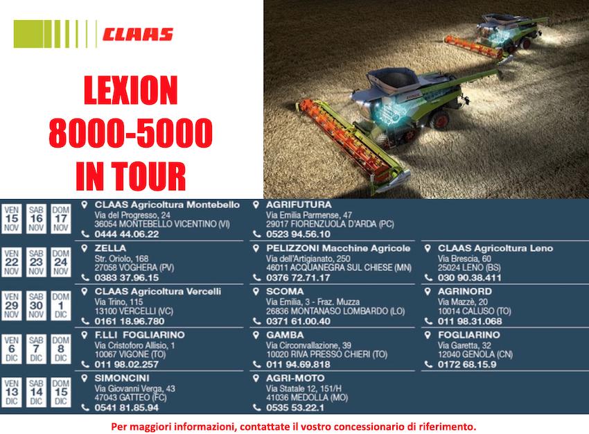 Claas: è in pieno svolgimento il Lexion 8000-5000 Tour