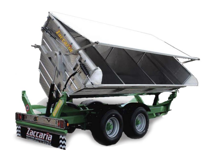 Zaccaria: nuova gamma di dumper bilaterali ZAM BL per il trasporto dell'uva